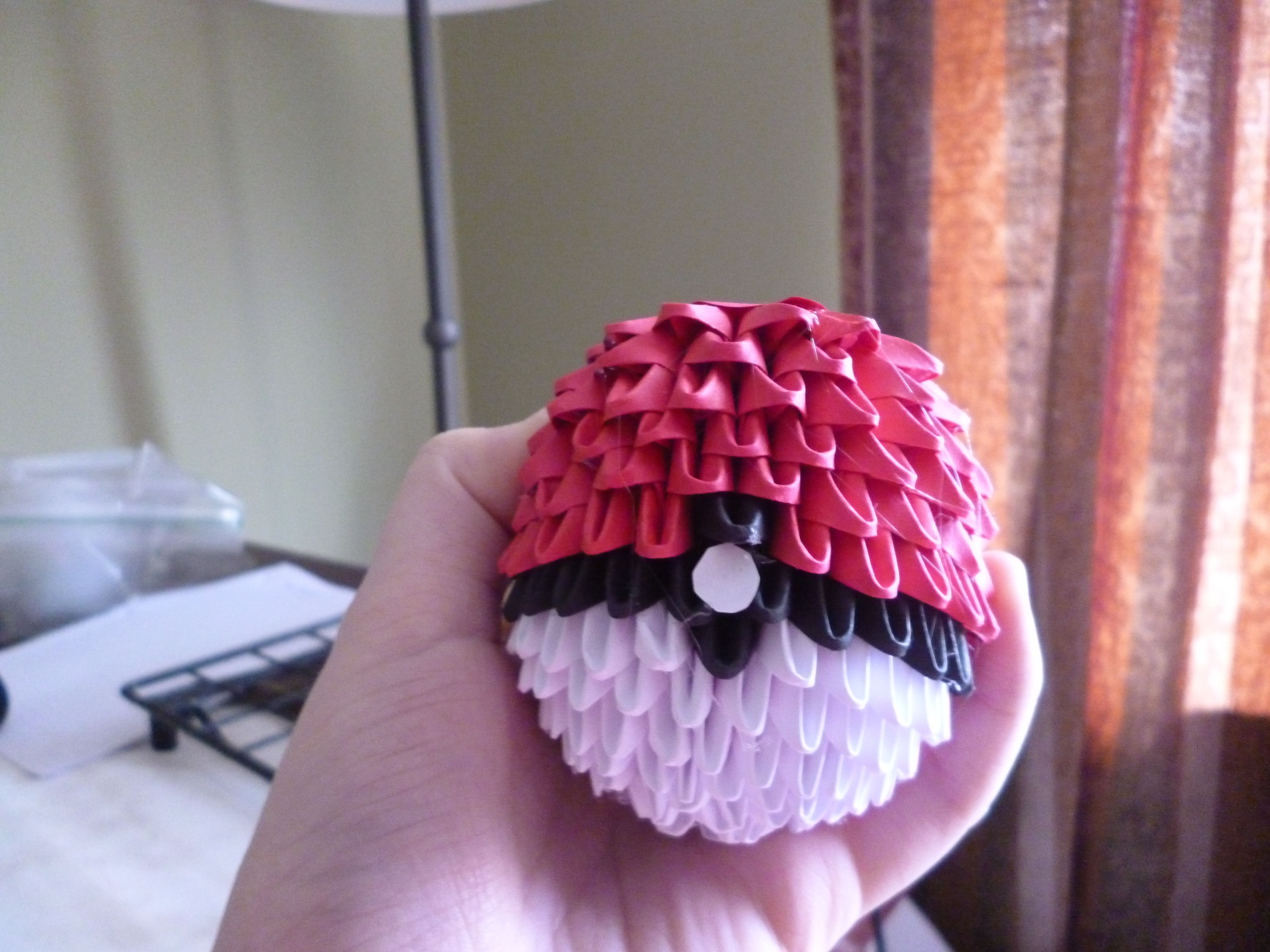 3d Origami Pokeball Origami Pinterest 3d Origami Origami And