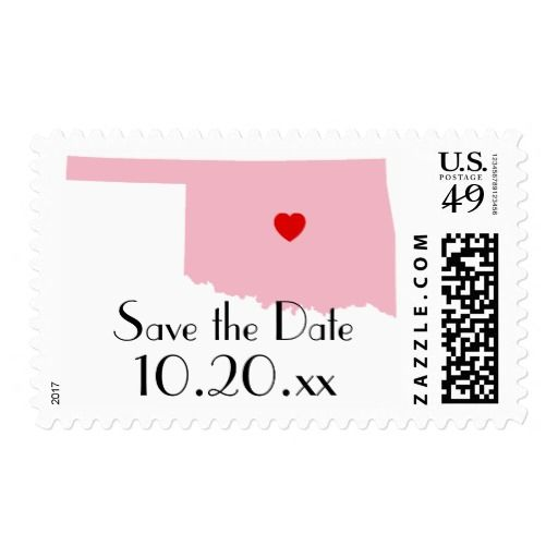 Create Your Own Oklahoma Save the Date Postage