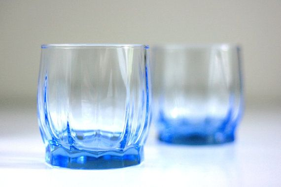 Ice Blue Tulip Glasses