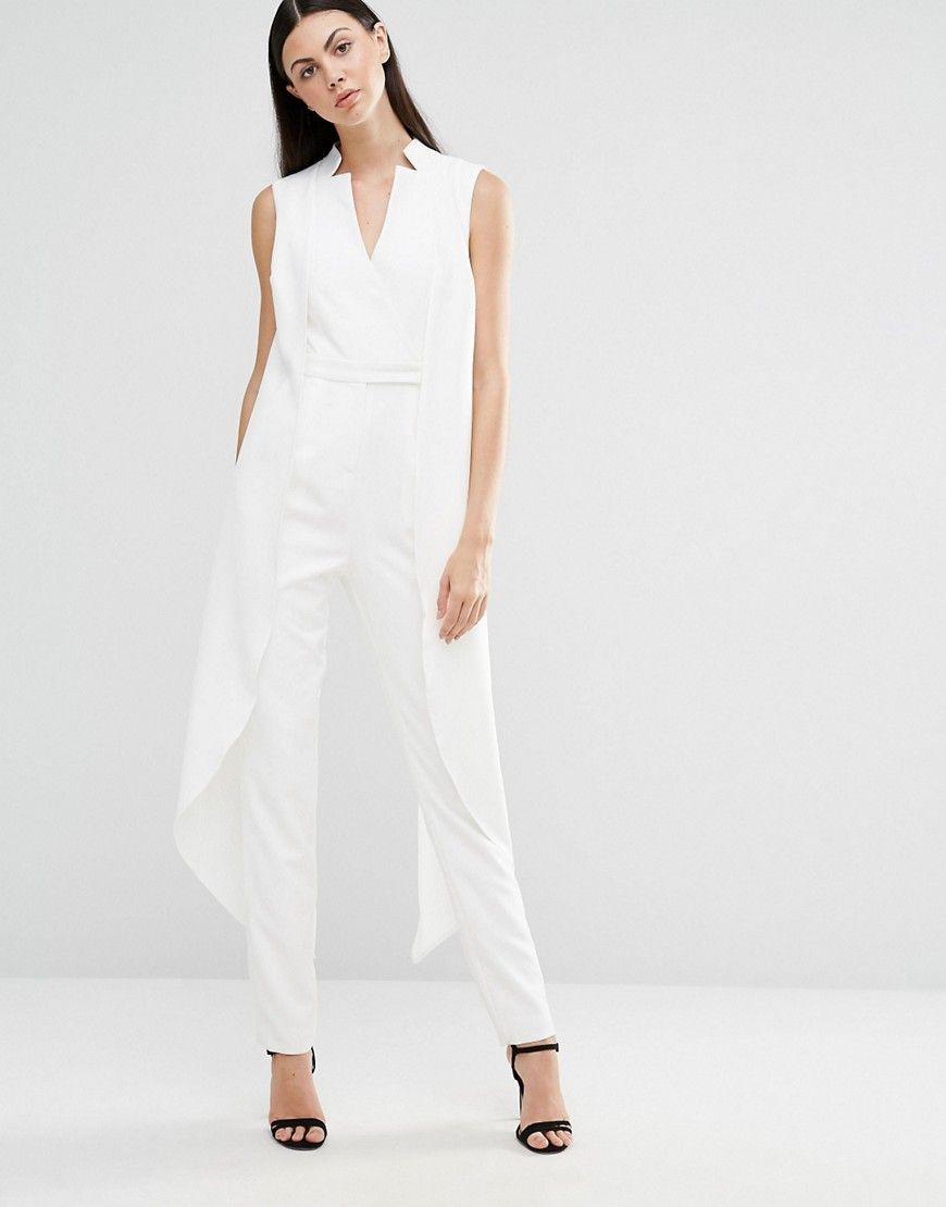 a1db8d099b3 Image 4 of Lavish Alice Tall Sleeveless Tuxedo Jumpsuit