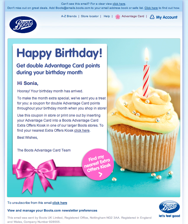 Birthday Email From Boots Featuring Animated Gif Candle View It Here Http View Emails Boots Com J Fefc1 Birthday Email Happy Birthday Email Email Templates