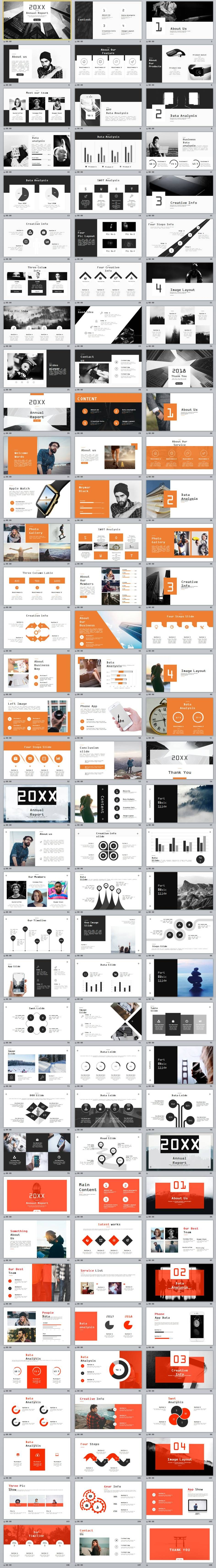 In Company Annual Report Powerpoint Template  Annual Reports