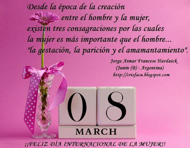 Mis Pensamientos Día Internacional De La Mujer 8 De Marzo Dia Internacional De La Mujer Mensaje De Feliz Dia Feliz Día De La Mujer