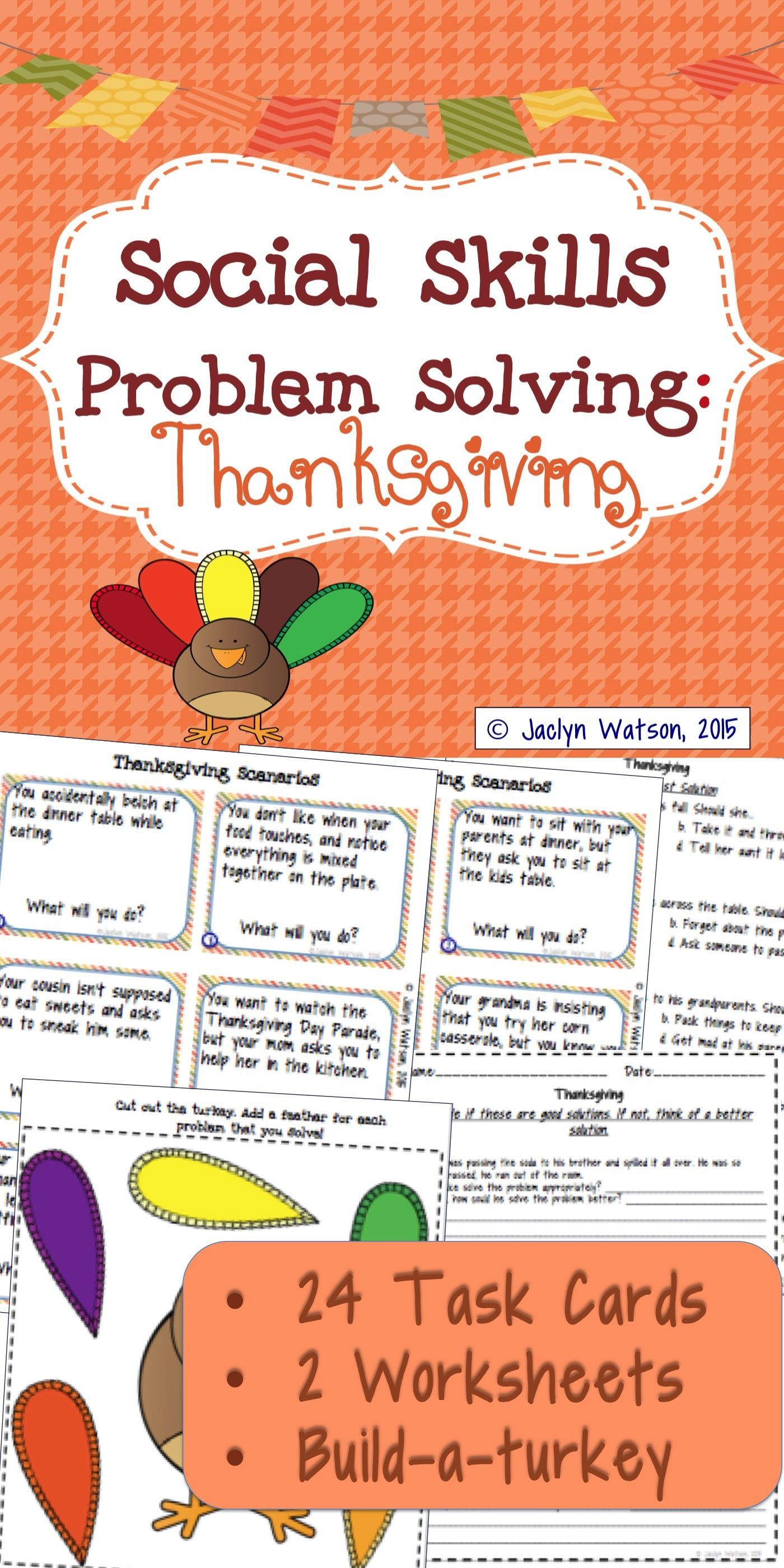 Social Skills Problem Solving Thanksgiving