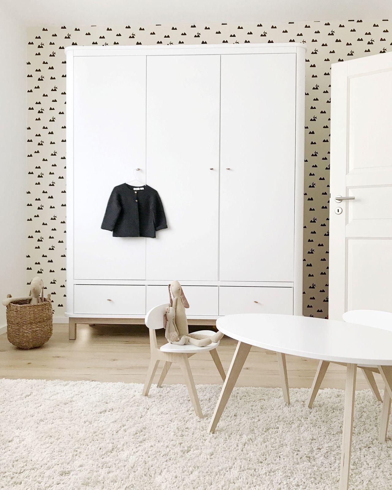 Oliver Furniture Kleiderschrank Wood 3 Turig Weiss Eiche Matteos
