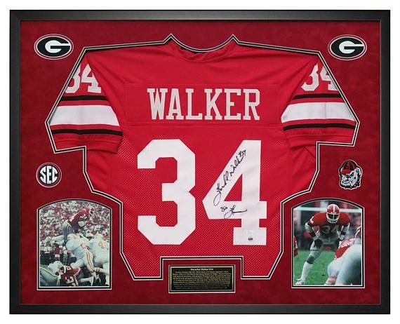 8d78da152f0 Herschel Walker Georgia Bulldogs Autographed Custom Framed Jersey in Shadow  Box.  HerschelWalker  GoDAWGS  GeorgiaHandmade  GeorgiaFootball  UGA ...