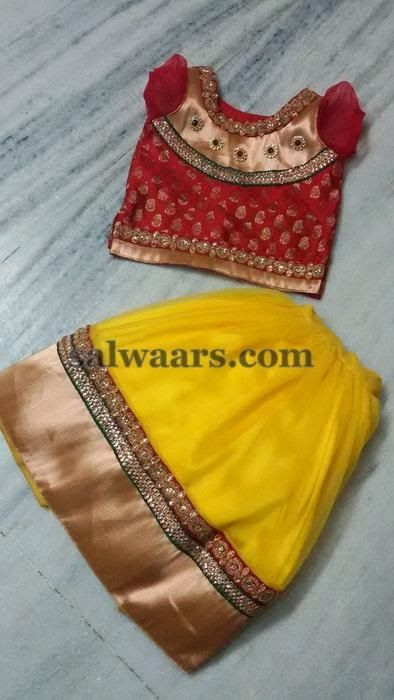 75269c8af78b84 Lehenga for 3 Months Baby
