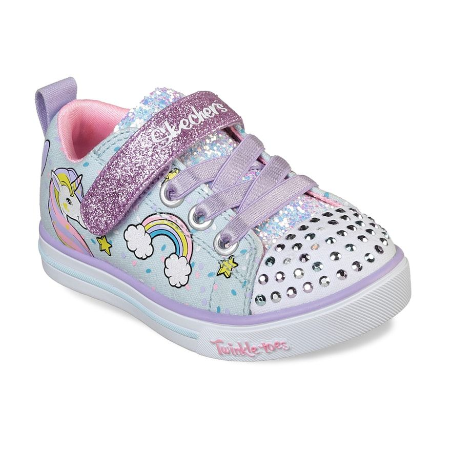 06999b24c9b9 Skechers Twinkle Toes Shuffles Sparkle Lite Toddler Girls  Light Up Shoes