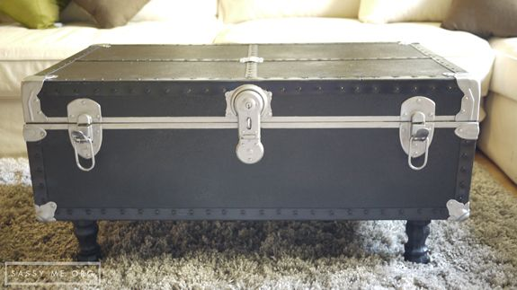 Guest Post: Dear Emmeline   DIY Trunk Coffee Table   The Golden Sycamore |  For The Home | Pinterest | Trunk Coffee Tables, Coffee And Apartments
