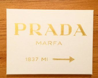 Prada Marfa Canvas, hand-painted.  For sale in my shop #LeenOnMeCrafts