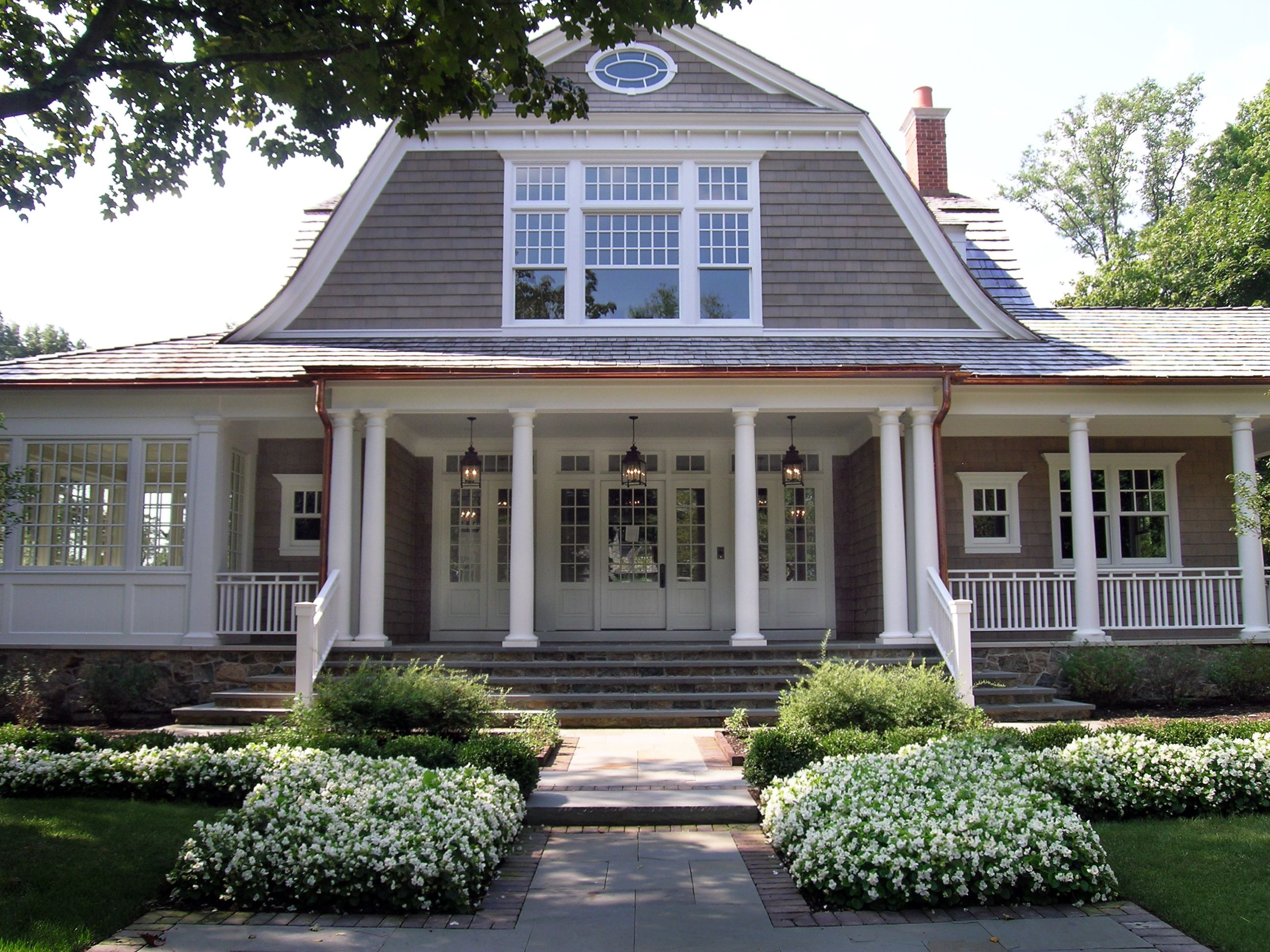 Love This House With The Gambrel Roof Line And Wrap Around Porch