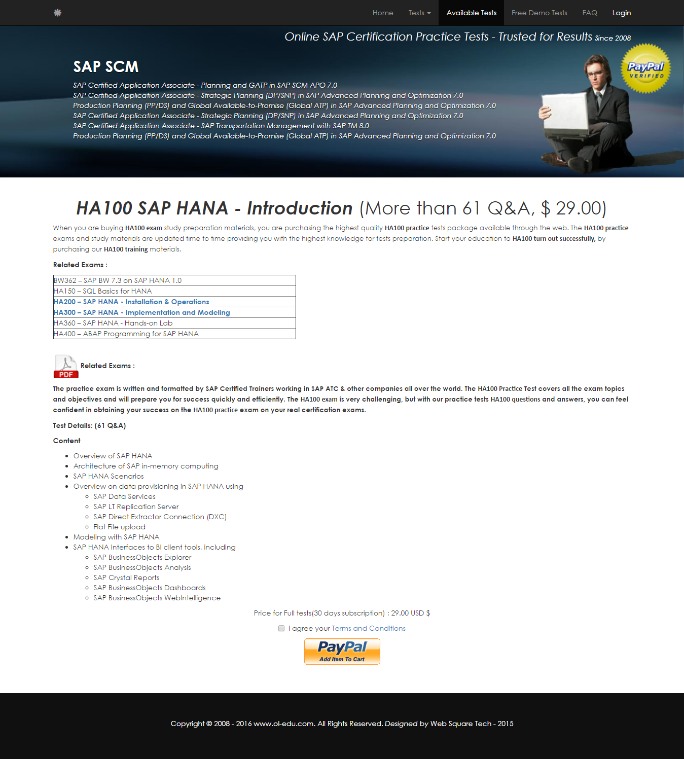 Ha100 Sap Hana Introduction Sap Certification Questions And