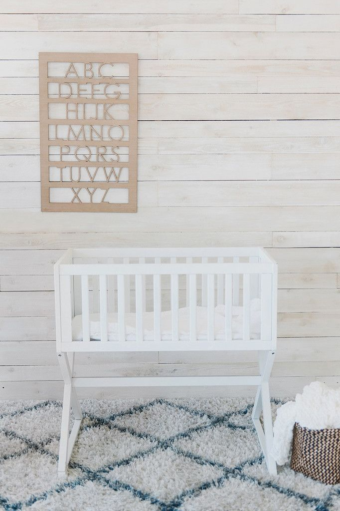 Modern Alphabet Wood Cut Decor in Frosted Ash