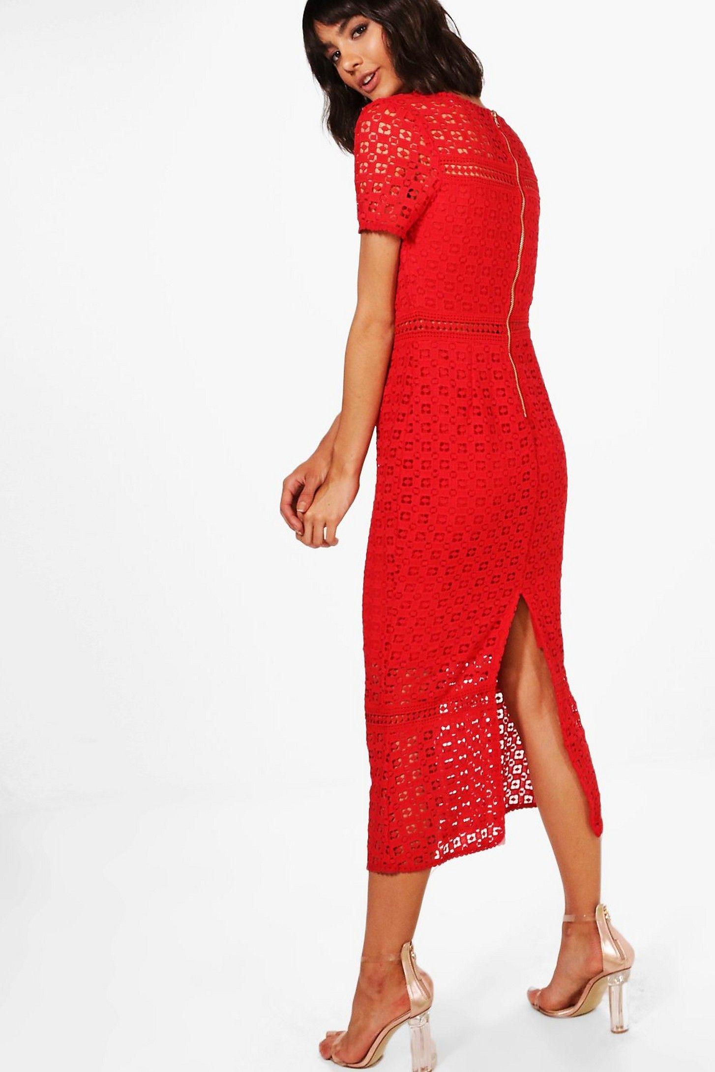 Boutique Crochet Midi Dress Boohoo Crochet Midi Dress Dresses Bodycon Fashion