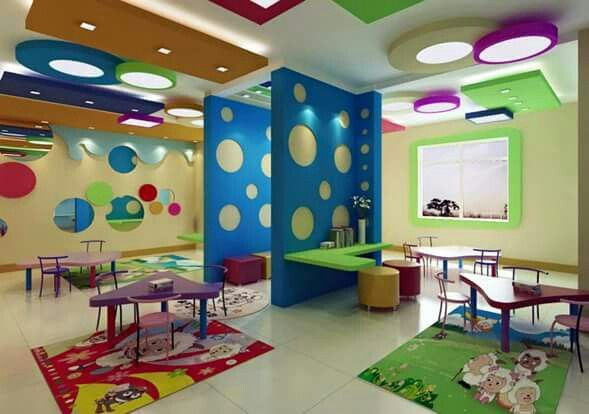 Kindergarten playspace interiores decoraciones de for Diseno curricular de jardin maternal