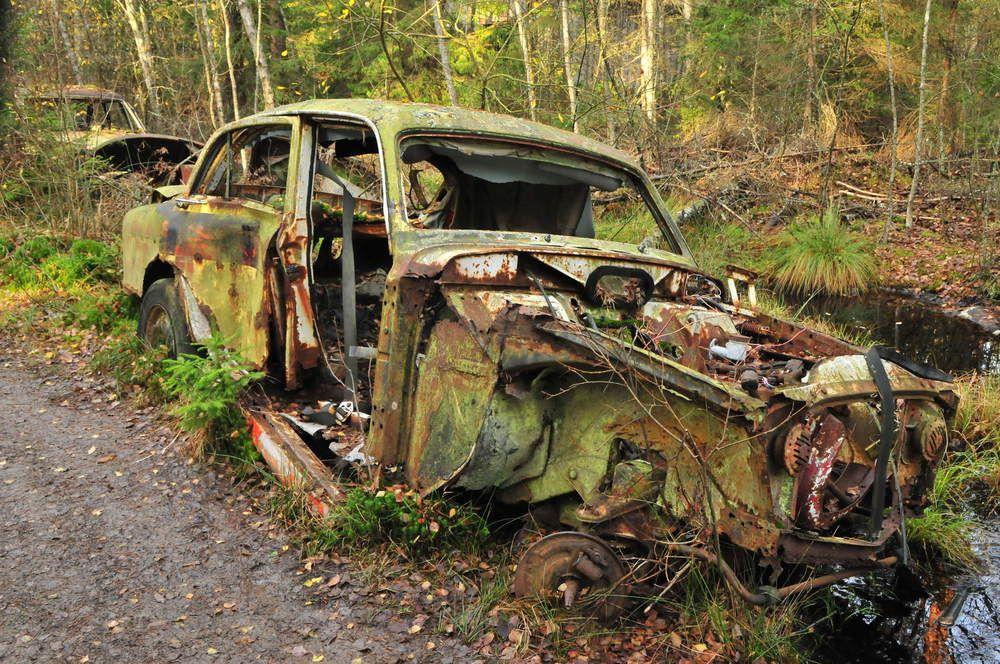 car nature wheathered