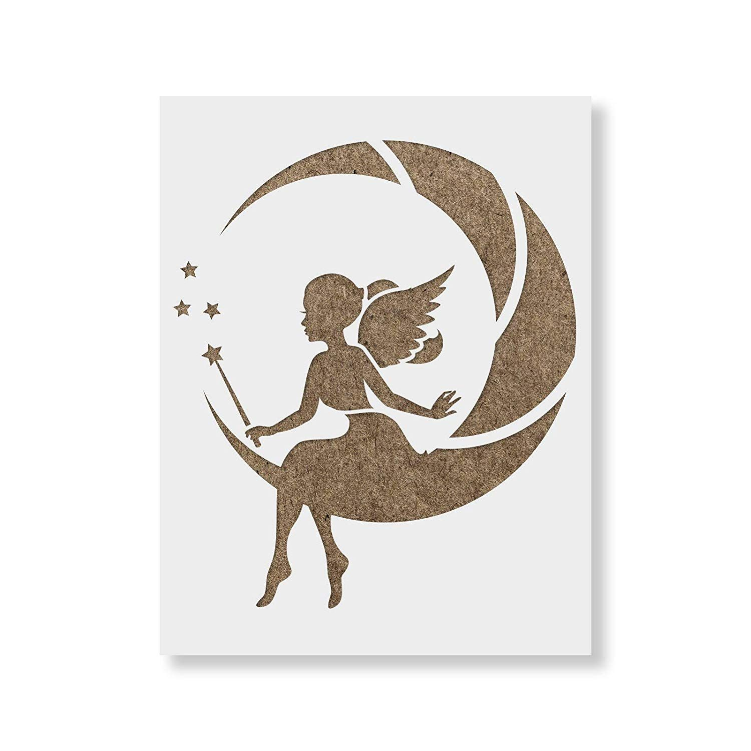 Fairy Moon Stencil Template for Walls and