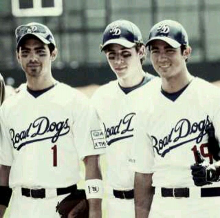 Jonas Brothers And Baseball 3 Joe And Nick And Kevin Playing For The Road Dogs Jonas Brothers Jonas Joe Jonas