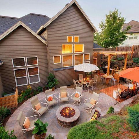 Putney Property | Fire pit backyard, Backyard, Garden fire pit on Quillen Steel Wood Burning Outdoor Fireplace id=28381
