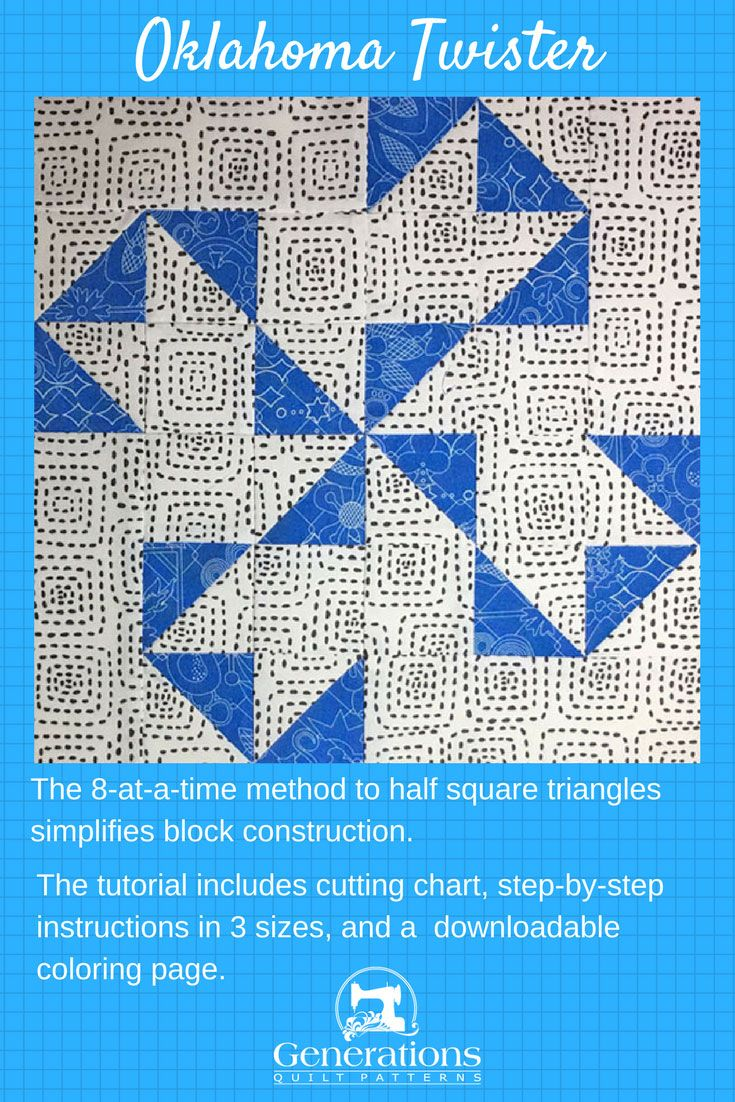 Oklahoma Twister Quilt Block Tutorial in 3 Sizes: 6\