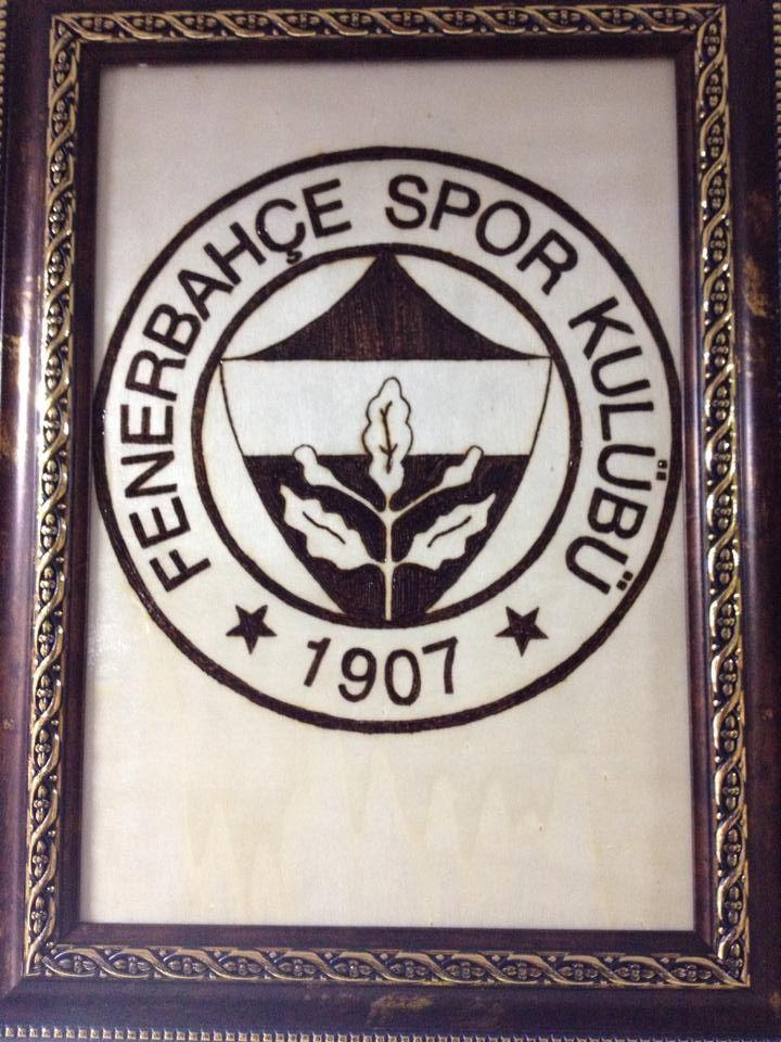 Ahşap Yakma Fenerbahçe Logo Göksel Akmeşe Frame Home Decor Ve Decor
