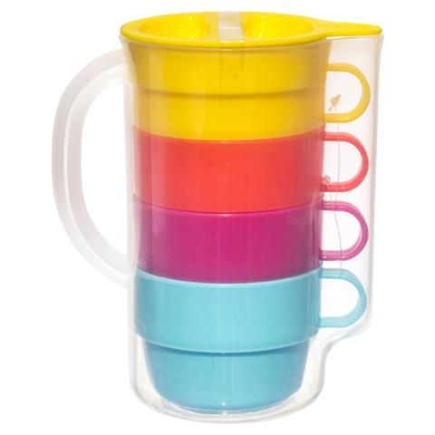 5 Piece Jug And Mug Set Kmart Mugs Set Mugs Cupboard Storage