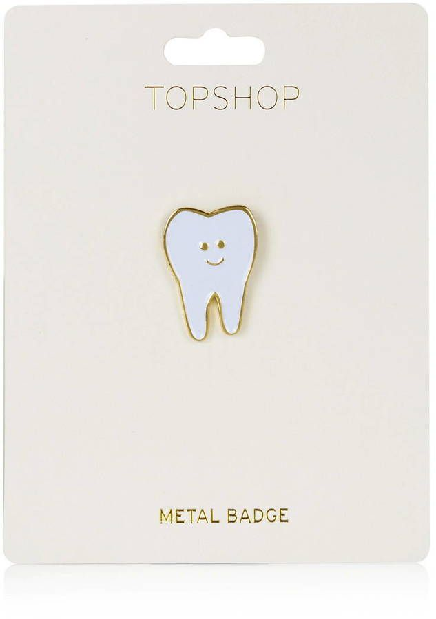 New Metal Teeth Badge Golden Silver Dentist Gift Decoration Backpack Shirt Denim Jacket Brooch Accessories Jewelry Craft Arts,crafts & Sewing