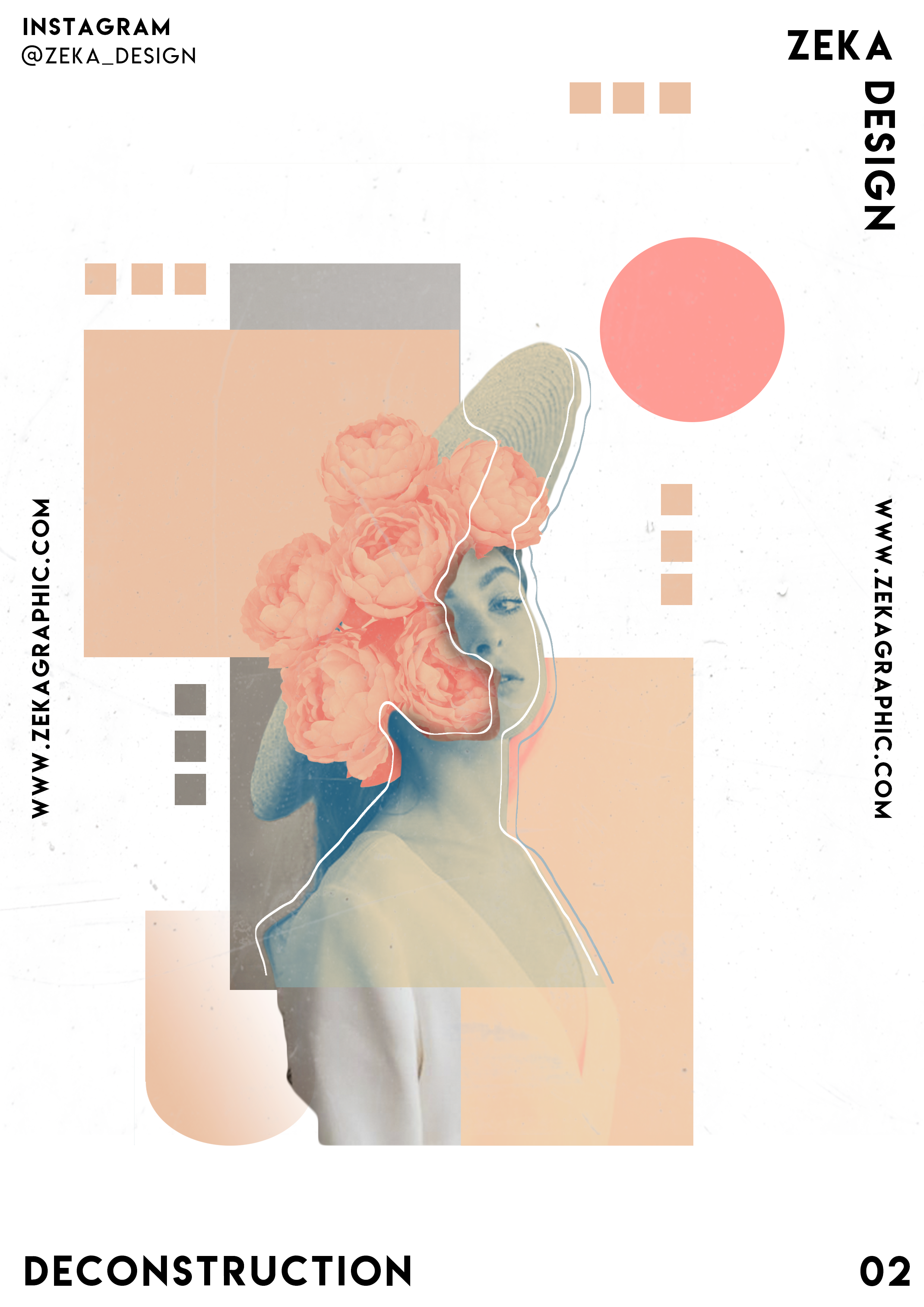 Deconstruction Poster Design 02 Collection Minimalist And Creative Art By Zeka Design In 2020 Vintage Graphic Design Collage Design Graphic Design Posters,Abstract Geometric Line Design
