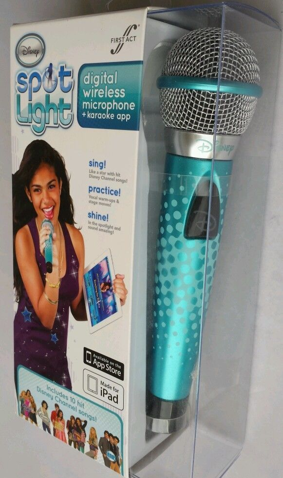 Disney Spot Light Microphone + Karaoke Apple iPad Singer