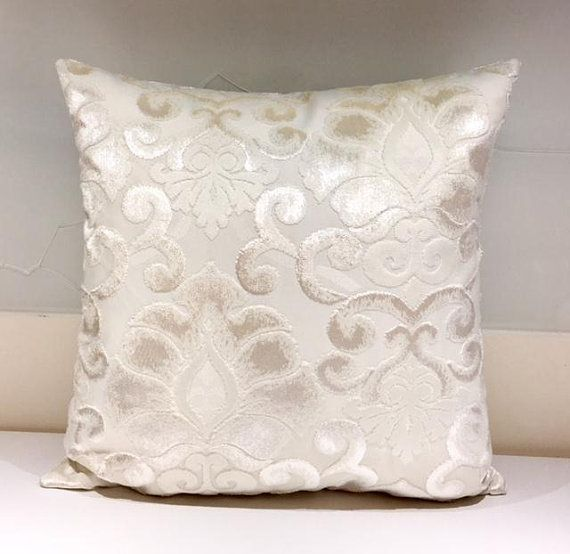 Cream Velvet Pillow Cover Cream Pillow Velvet Pillows Designer Throw Pillow  Velvet Cushion Cream Velvet Sofa
