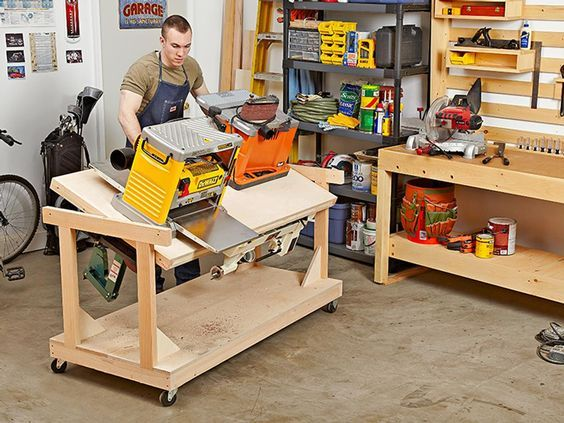 garage workshop woodworking. flip-top tool bench woodworking plan, workshop \u0026 jigs bases stands garage