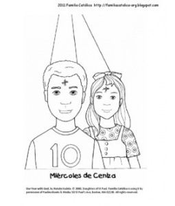 Ash Wednesday Coloring Page For Kids