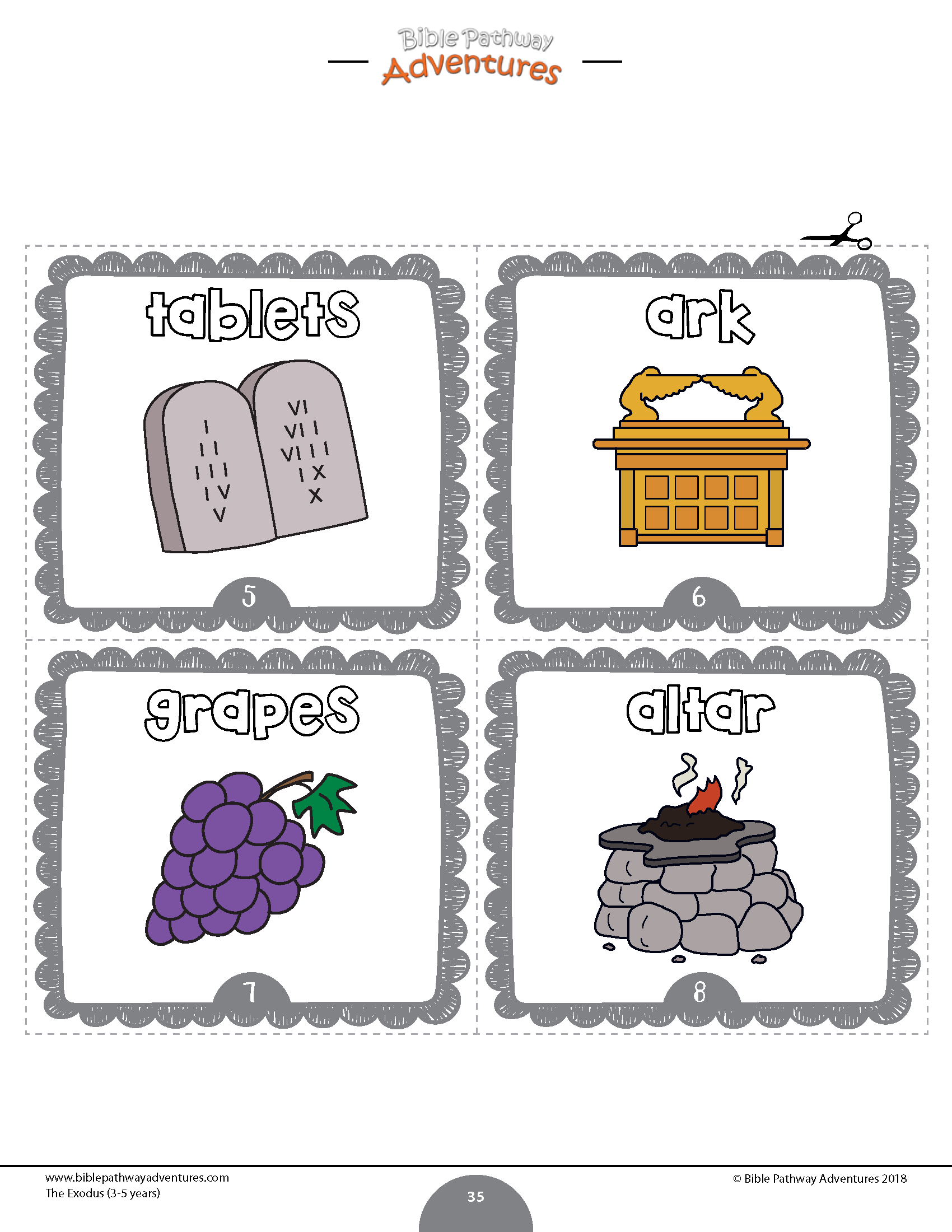 Exodus Task Cards Flash Cards For Kids