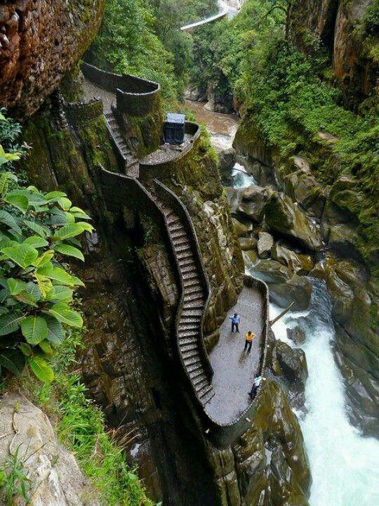 Canyon steps, Equador
