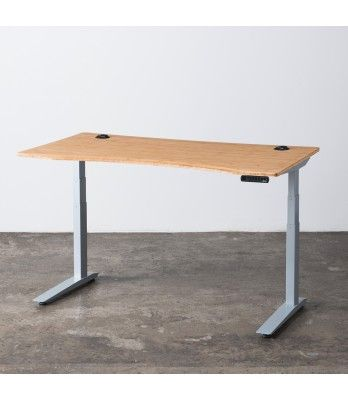 Gentil Jarvis Bamboo Adjustable Standing Desk In Silver
