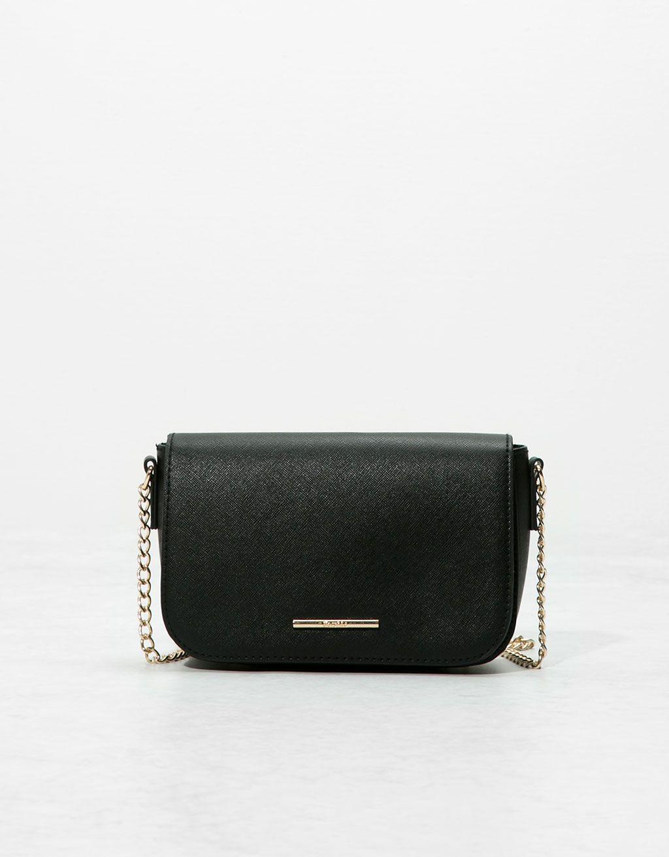 Basic Saffiano style chain bag - Bags - Bershka Ukraine  93622f5f815f4