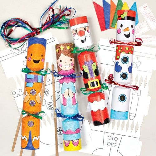 Christmas character cracker kits get fun crafting with these cute tesco direct colour in christmas cracker kits for children to make and decorate pack of solutioingenieria Images