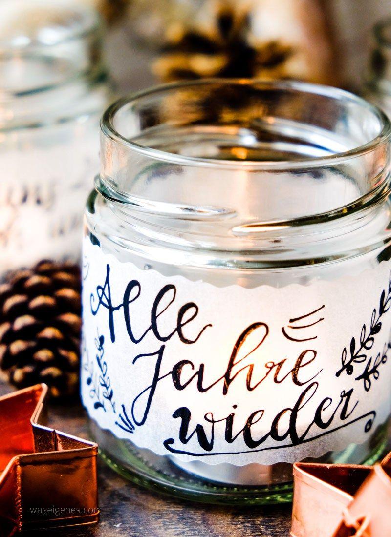 DIY Teelichtgläser #weihnachtsdekoglas