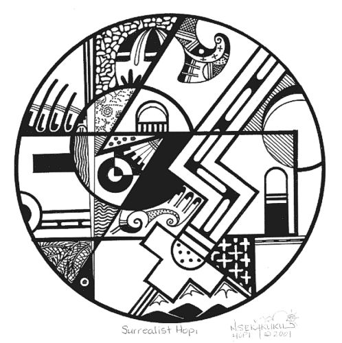 Hopi Indian Symbols Coloring Page Hopi Native American Drawings In