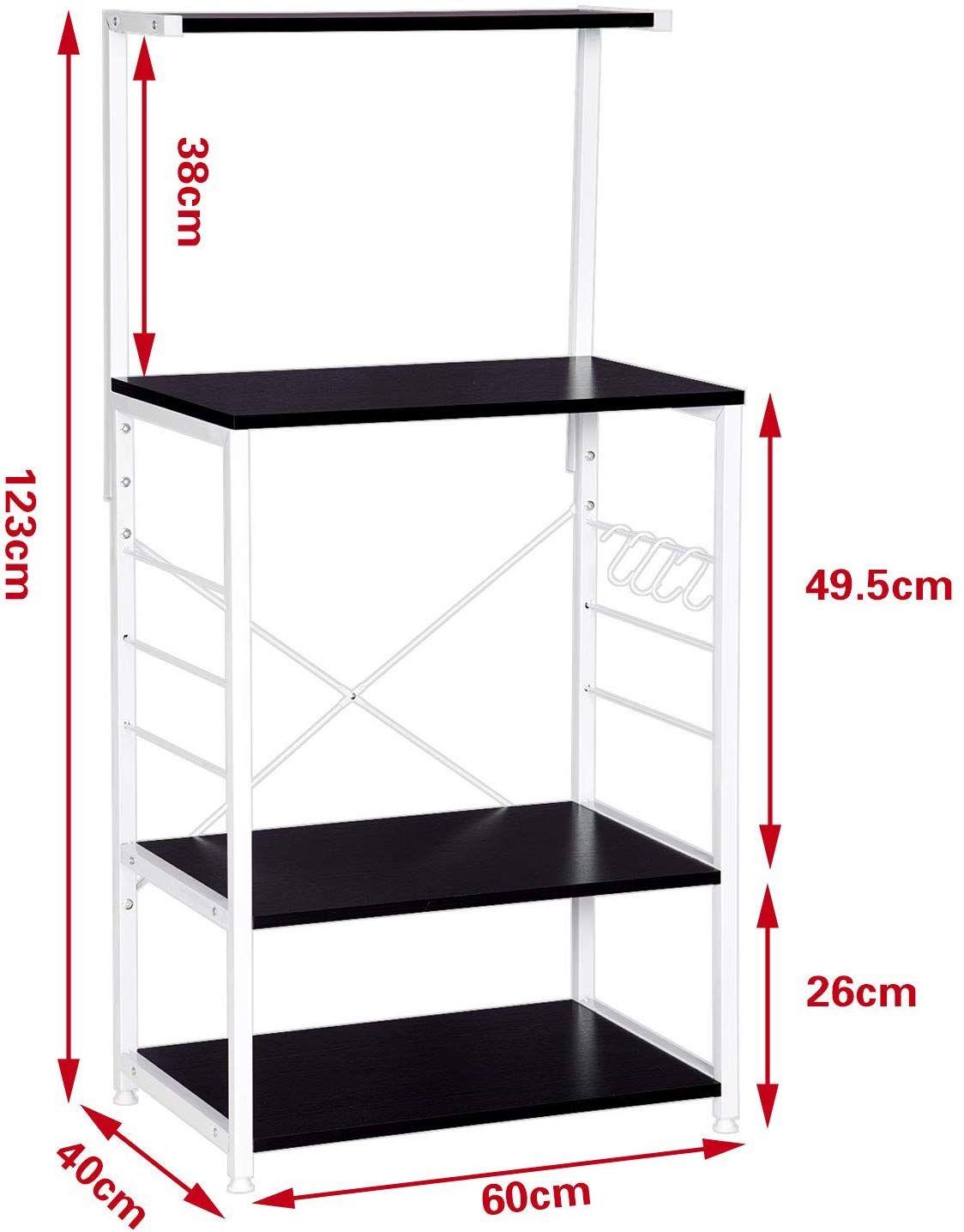 Etagere Murale Micro Onde esituro sstr0042 etagère de micro-onde meuble rangement 3