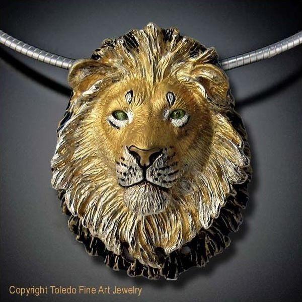25acbdf2d Lion Pendant | Gold Plated | Daniel Toledo | Like | Lion necklace ...