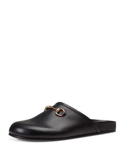 be7c6047d GUCCI Horsebit Leather Slipper, Black. #gucci #flats | Gucci Men ...