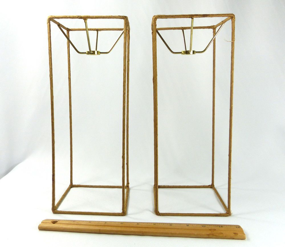 Lamp shade frames pair tall square for table lamps lampshades lamp shade frames pair tall square for table lamps lampshades custom made nyc greentooth Gallery