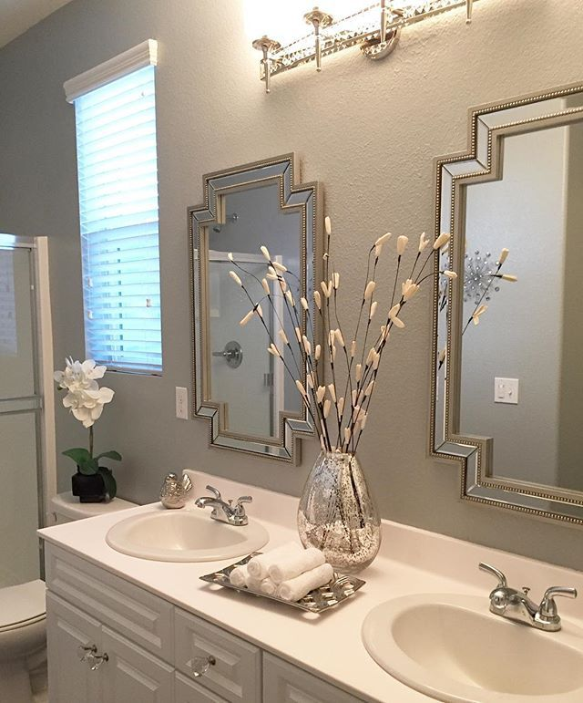 Websta Luv 2 Decorate Happy Monday Just Wanted To Share This Pic For Mondaymirrors This Is One Of Guest Bathrooms 2 Mirrors In Bathroom Bathroom Mirror