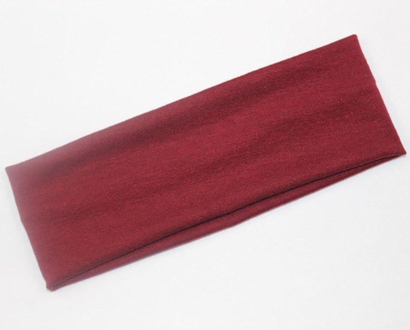 Fashion style lady cotton absorb sweat yoga elastic headband popular women candy color sport hair band headband