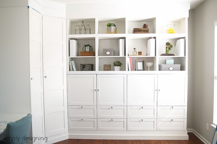 Craft Room : Building in Cabinets : Part 3 | Building, Room and Ikea ...