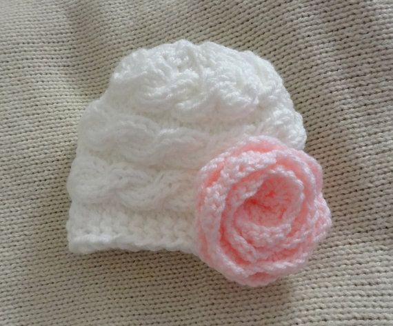 Baby Hat Baby Girl white Hat Newborn Hat Photo by IfonBabyLand, $19.00