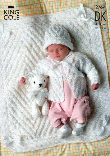 King Cole Baby Jackets Hat Blanket Dk Knitting Pattern 2767