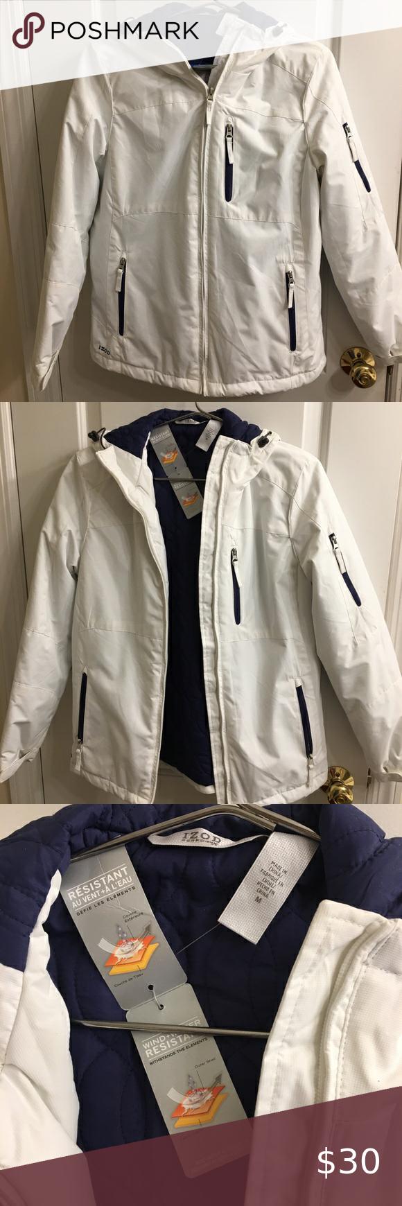 Izod Nwt Performx Wind Water Resistant Coat M Water Resistant Coats Clothes Design Izod [ 1740 x 580 Pixel ]