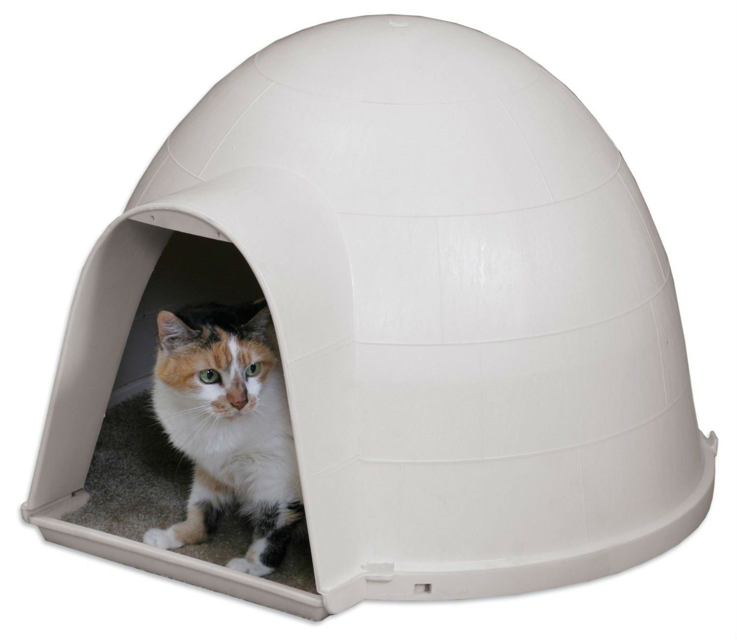 Outdoor Kitty Cat Igloo With Carpeted Floor Outdoor Cat House
